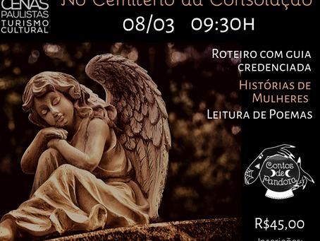 Sarau Tour: As Vozes Femininas no Cemitério da Consolação