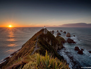 Golden Hour at Nugget Point