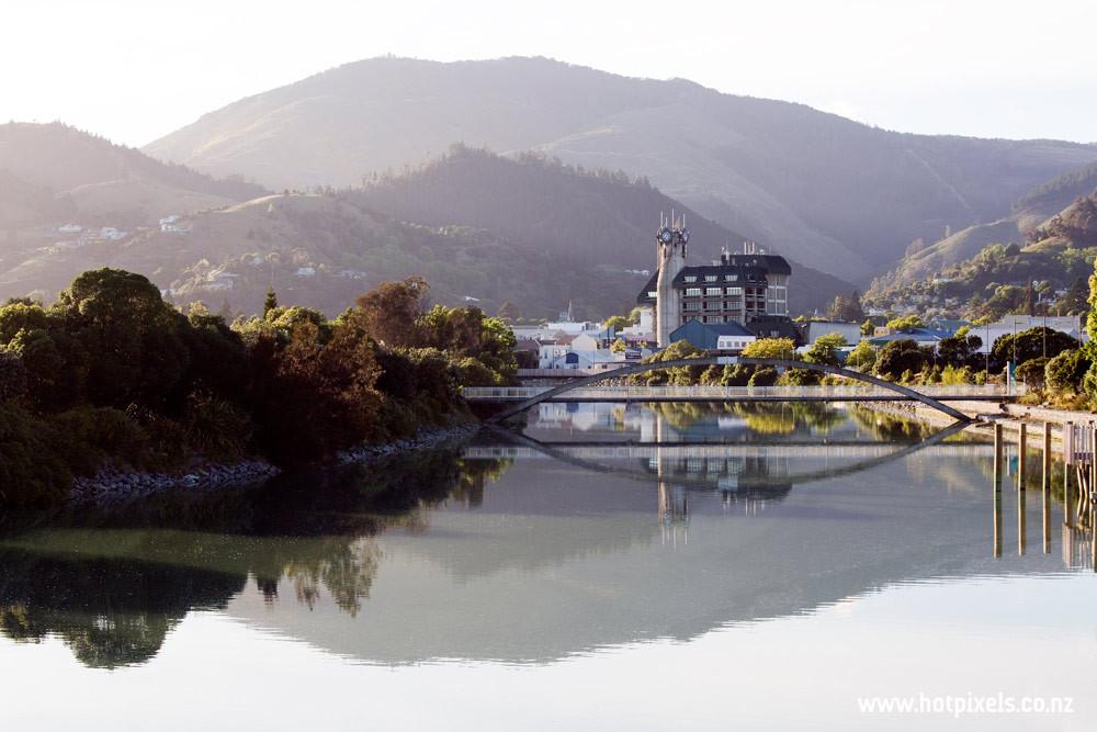 NCC Building + Maitai River, Nelson, NZ
