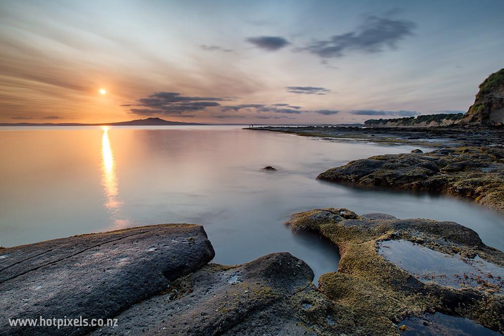 Sunrise over Rangitoto Island, Auckland