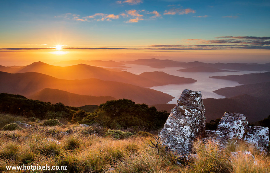 Sunrise from Mt Stokes