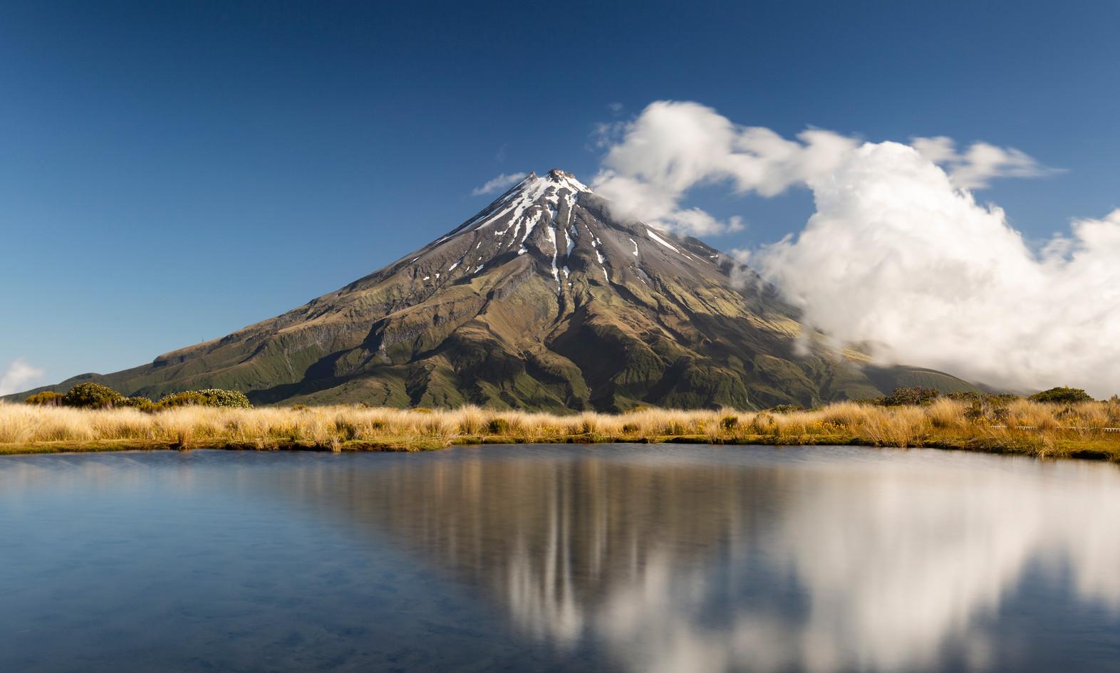 Mt Taranaki reflected in Pouakai Tarn