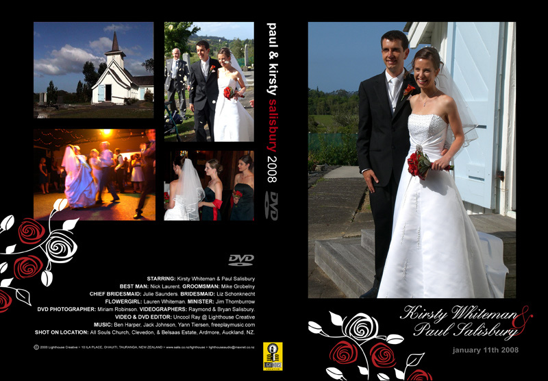 DVD Slick Cover for wedding