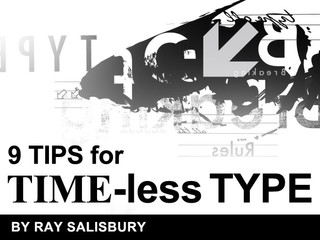 9 tips for TIME-less type