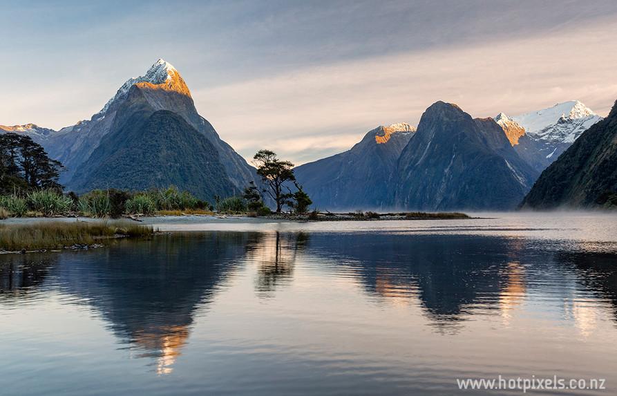 Winter dawn, Milford Sound