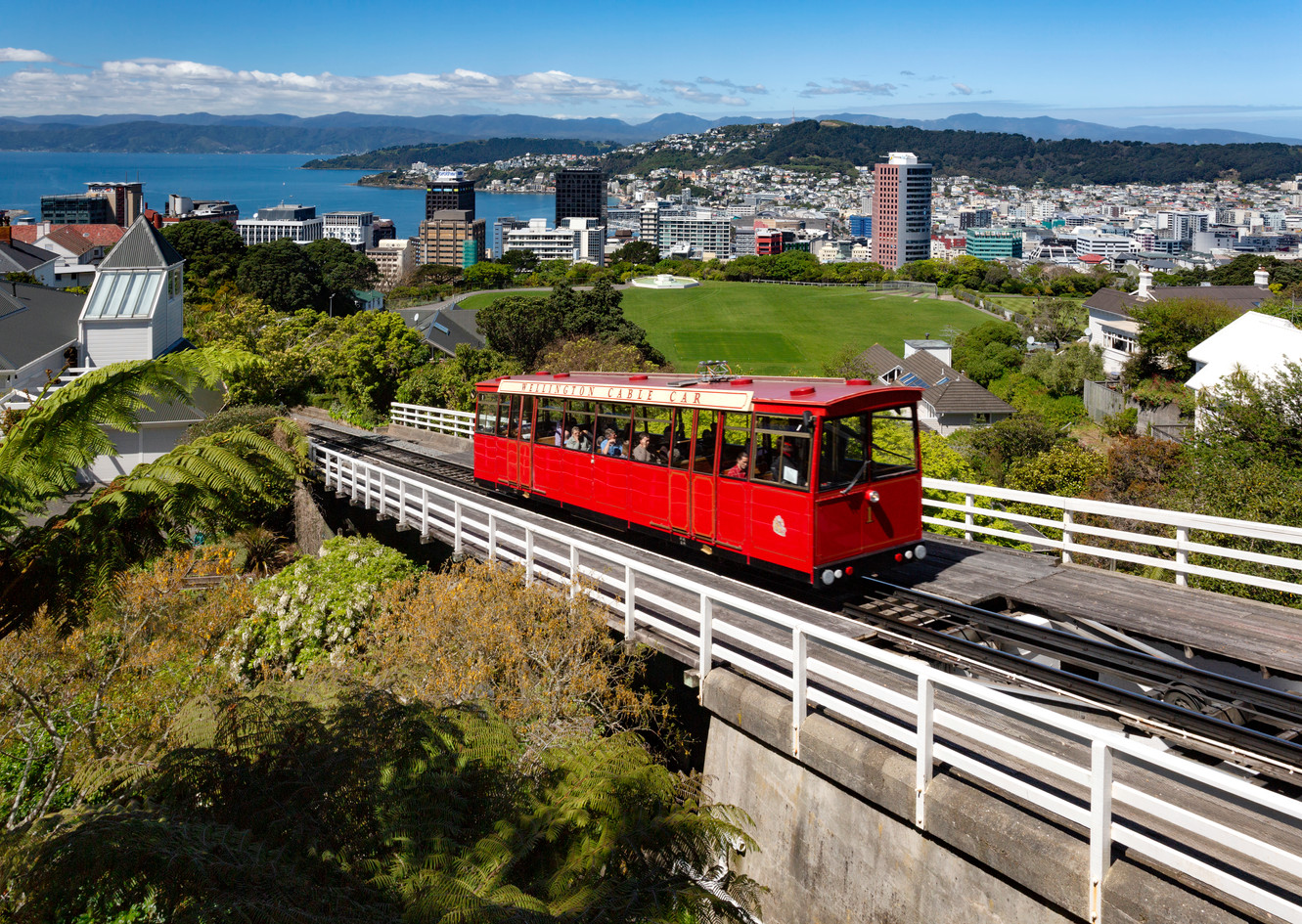 Wellington City with iconic cable car