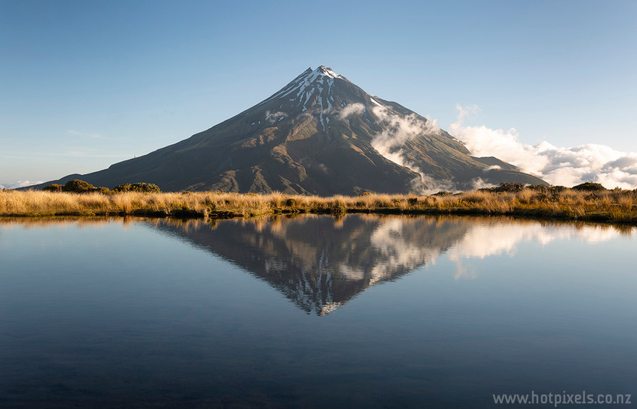 Mt Taranaki from Pouakai Tarn