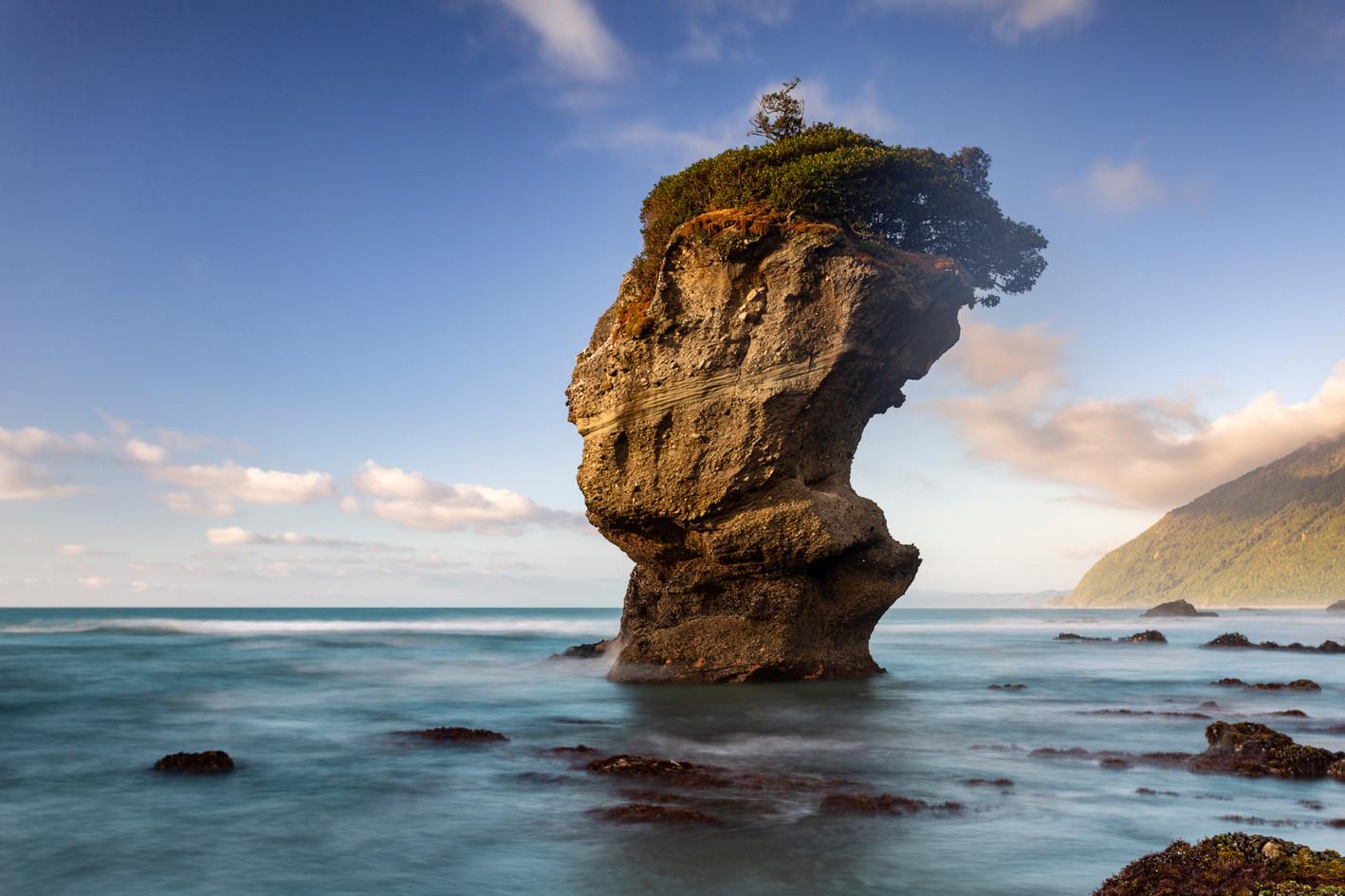 Maori Head Rock Motukiekie, West Coast