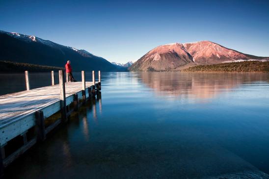 Lake Rotoiti in winter, Nelson Lakes National Park