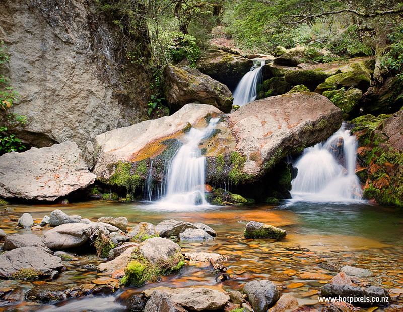 Cascade in GridIron Creek, Kahurangi National Park