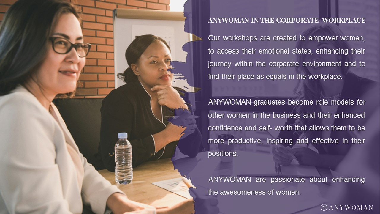 ANYWOMAN in the corporate workplace