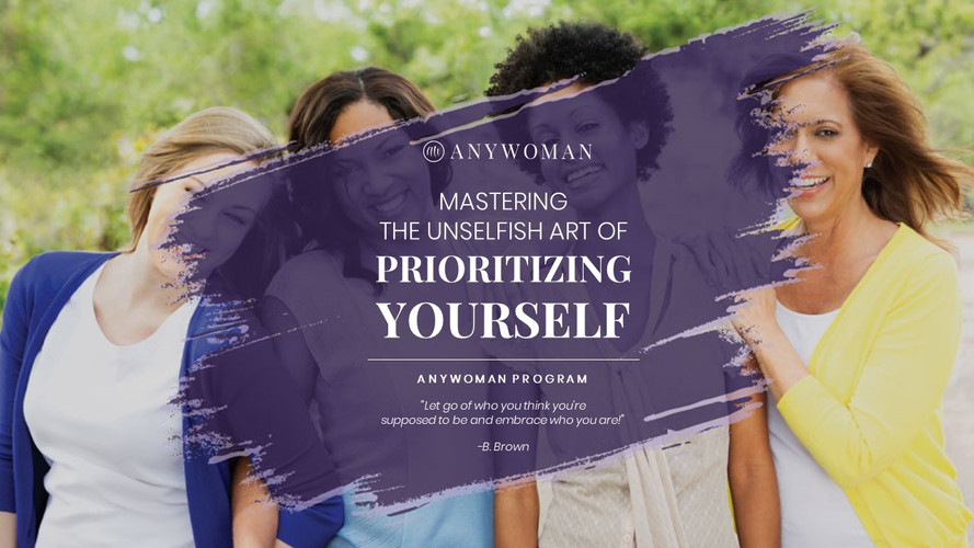 Mastering the unselfish art of prioritising yourself!