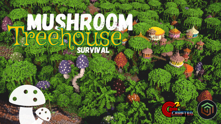 Mushroom Treehouse Survival Map