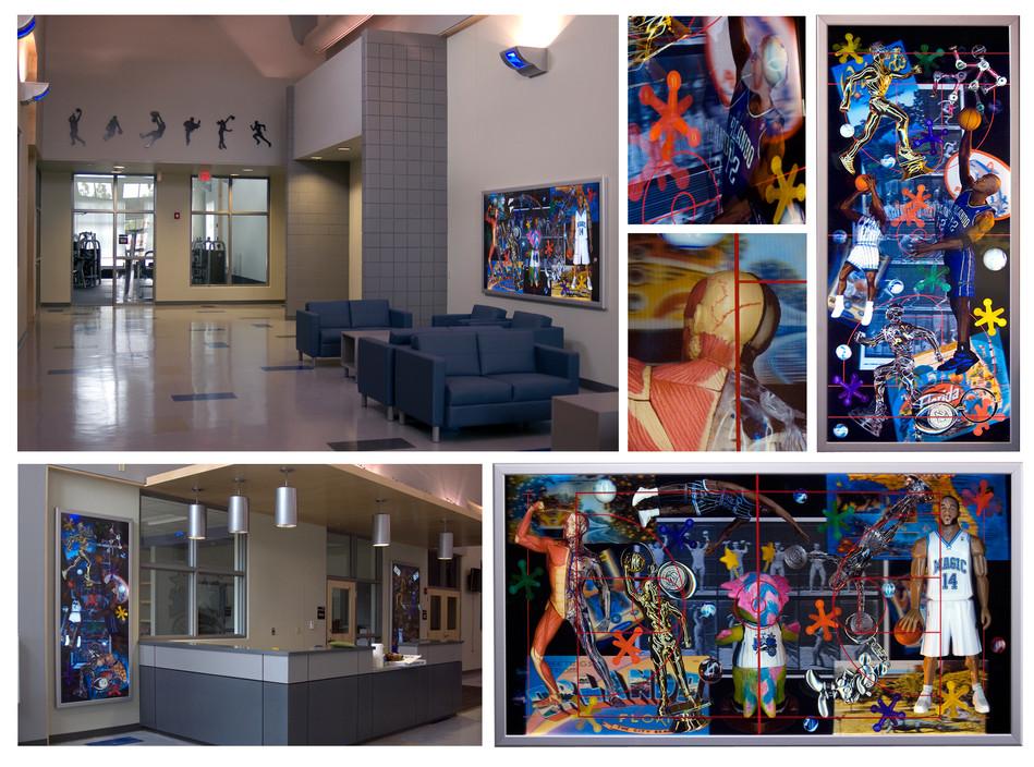 """Lenticular Community Magic""  - Lobby Installation, 2010  Orlando Magic, South ECON Recreation Center Orlando, Florida"