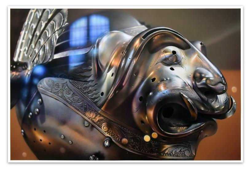 Count Palatine Wolfgang's Arnet (helmet) 1540, Les Invaldes. Paris, 2018