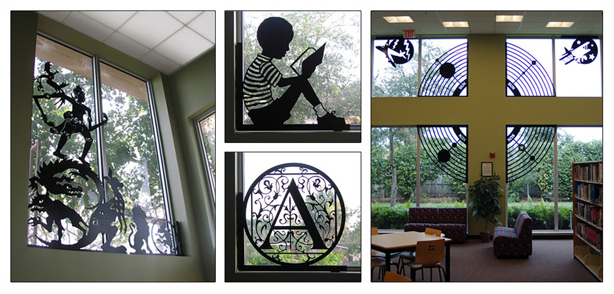 """""""A-Z Fables, facts and Myths"""" - 2005  North Fort Lauderdale Neighborhood Library, Ft Lauderdale, Florida, 2005"""