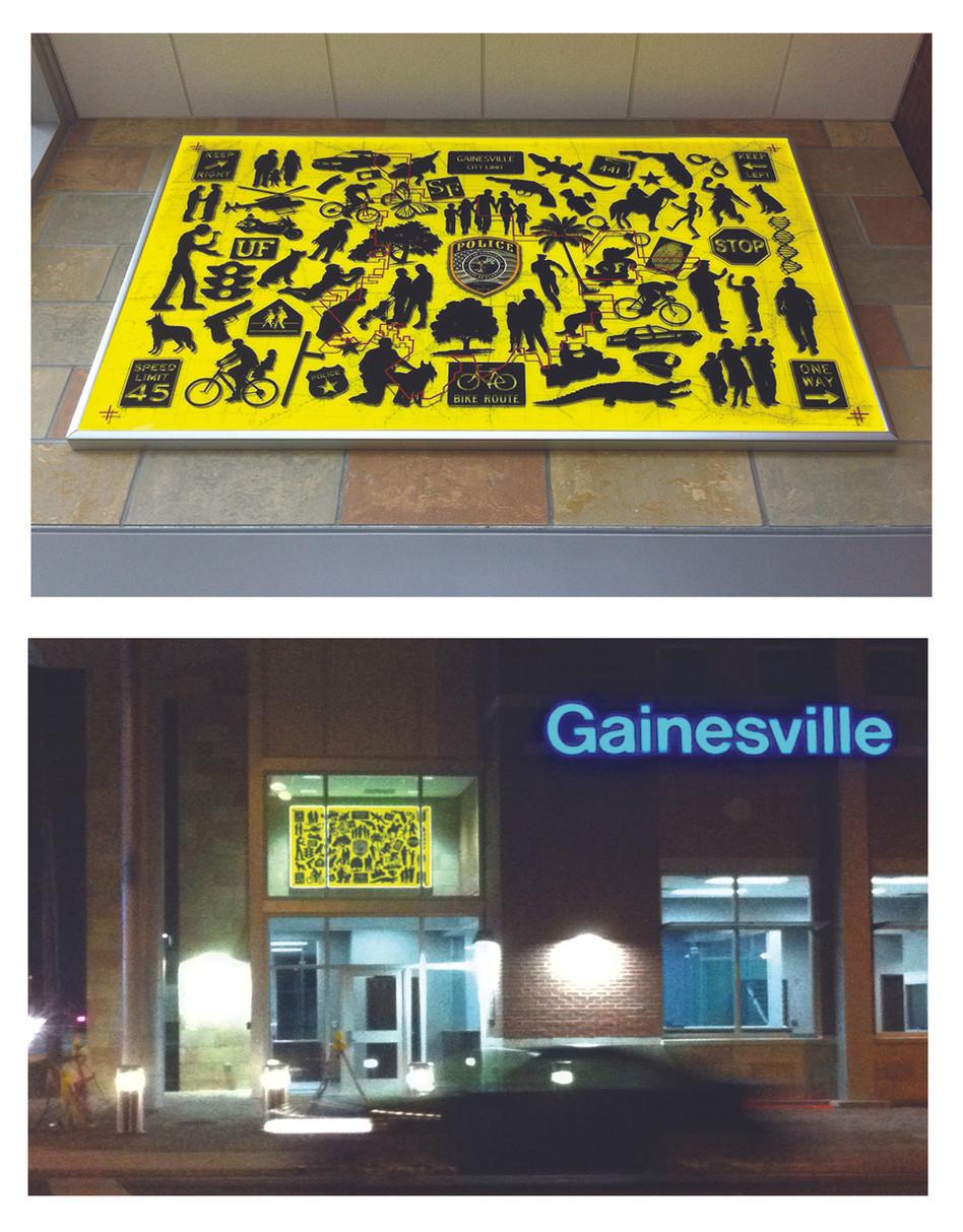 Gainesville Police Headquarters Lobby, 2014,  Gainesville, Florida