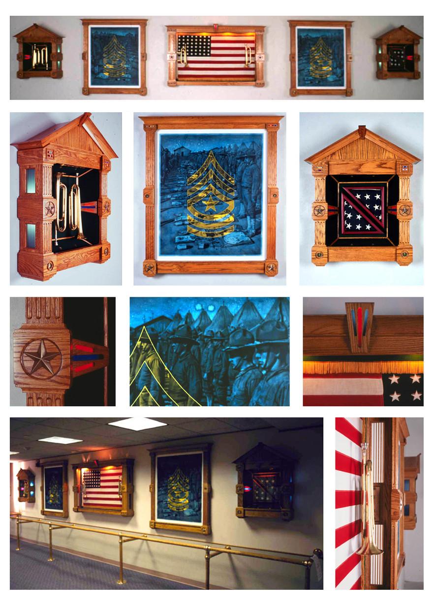 """Note /Crepusolo"" 1994   Emery Bennett Memorial Veterans Nursing Home,  Fabricated with Tony Shipp, Daytona, Florida"