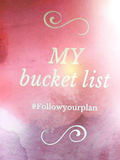 The Bucket List planner Bookmark