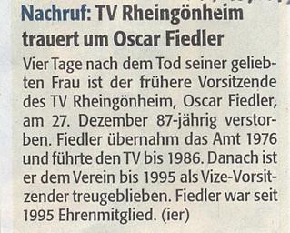 Trauer um Oscar Fiedler