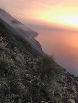 Les flancs du Stromboli.