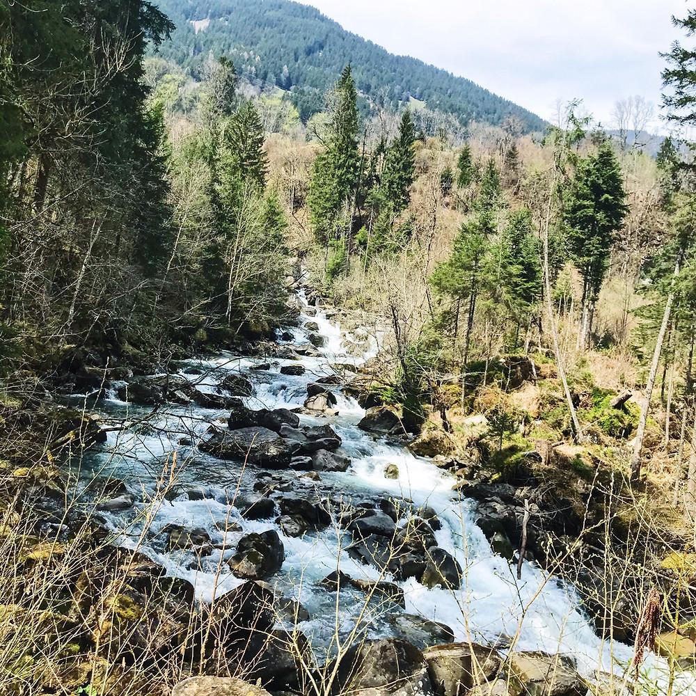 Splendeur sauvage du Valais en Suisse.