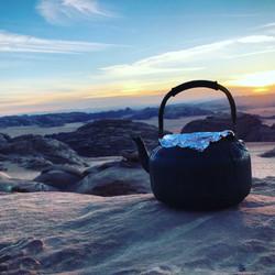 Une tasse de thé dans le désert