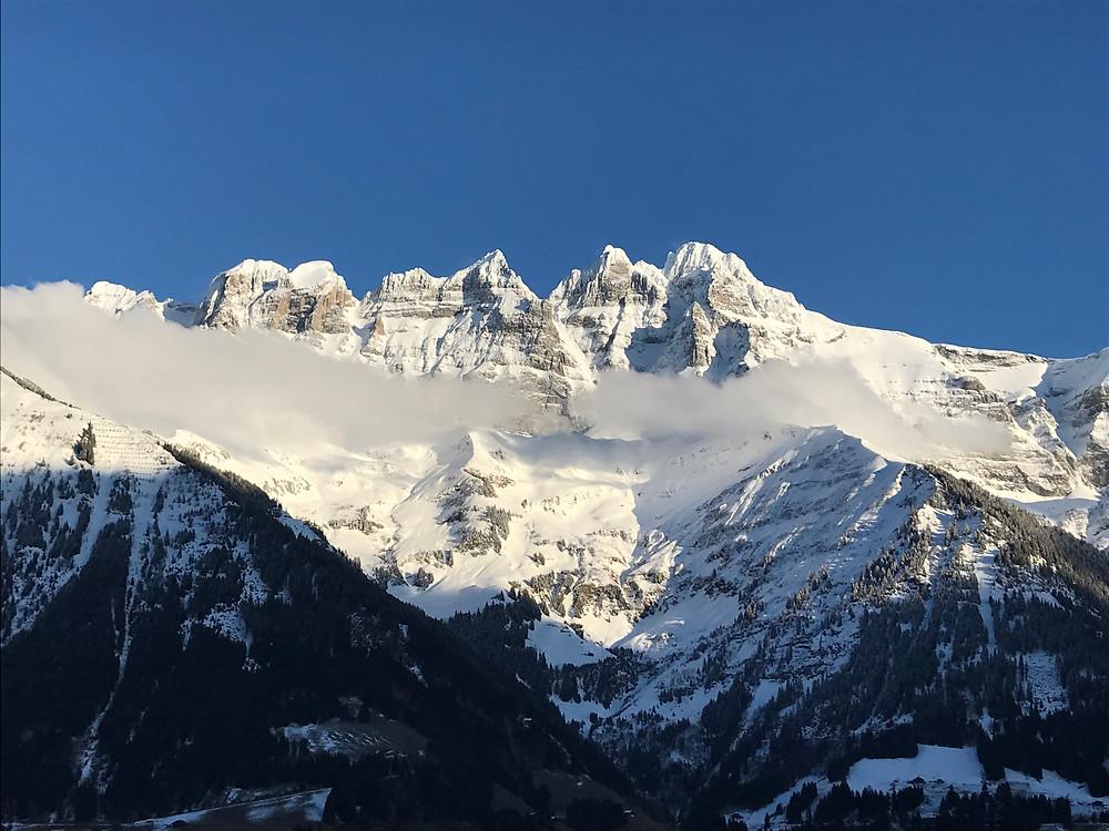 L'attraction des montagnes, Les Dents du Midi, Suisse.