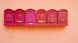 Pantone de boîtes aux lettres.