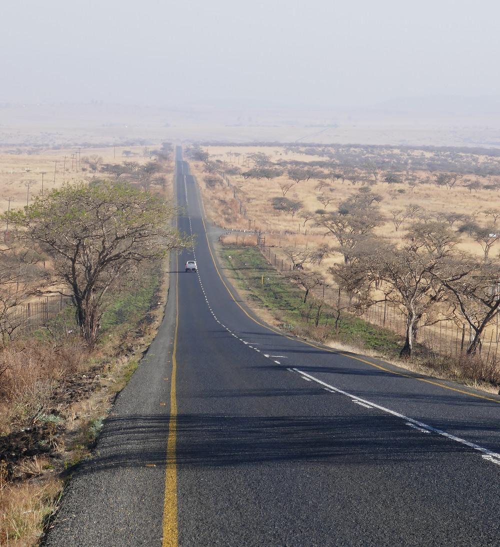 Magie routière, vers Estcourt, Afrique du Sud.