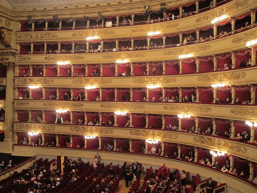 Les loges de la Scala de Milan, Italie
