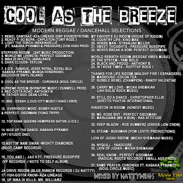 Cool As The Breeze Cover Tracklist Final