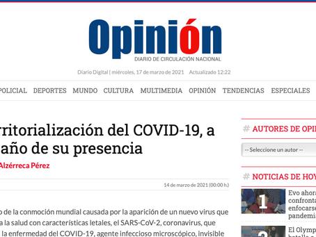Territorialización del COVID-19,  a un año de su presencia