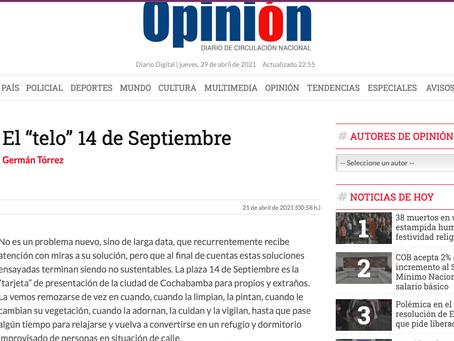 """El """"telo"""" 14 de Septiembre"""