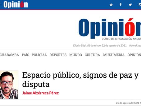 Espacio público, signos de paz y disputa