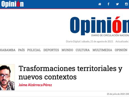 Transformaciones territoriales y nuevos contextos