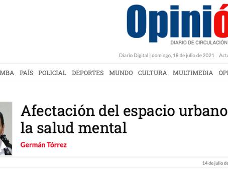 Afectación del espacio urbano en la salud mental