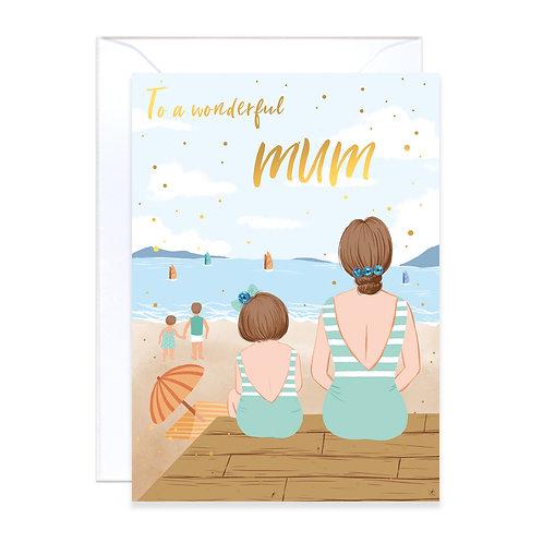 Mum at Seaside