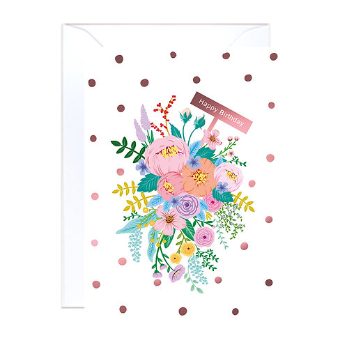 Floral Garden White Birthday
