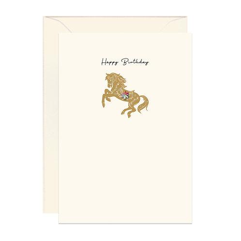 Gold Horse Birthday