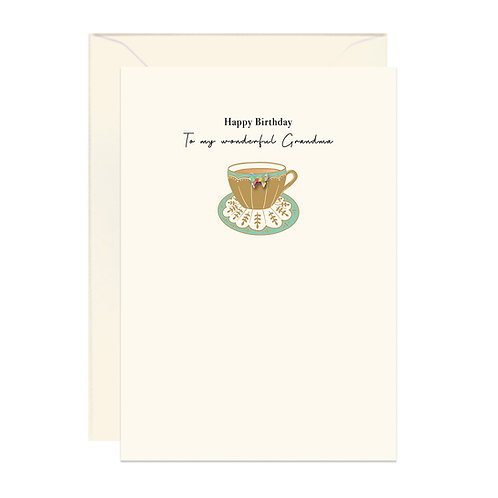 Gold Teacup Birthday