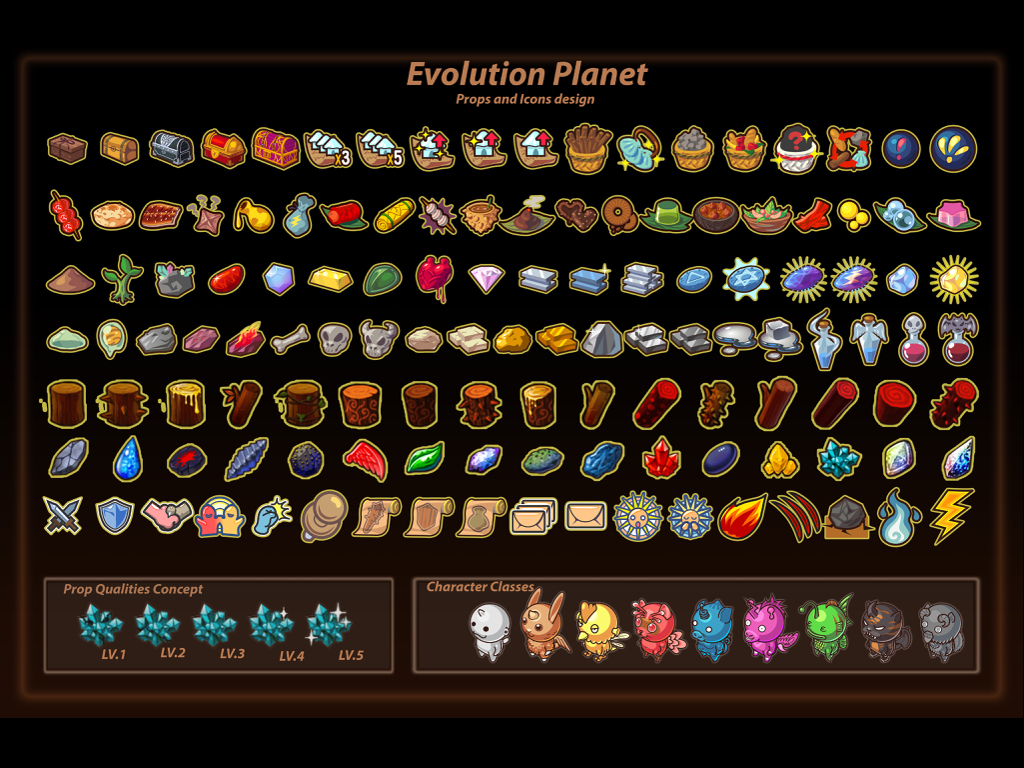 Evolution Planet Props and Icon