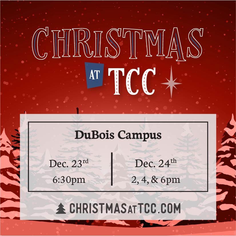 Christmas at TCC 2020 invite card_DuBois