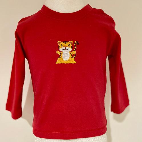 Smiley Tiger Long Sleeve Shirt