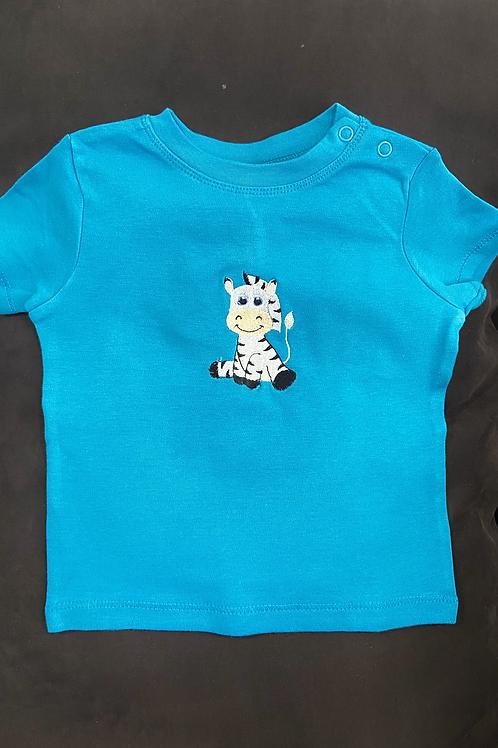 Short Sleeve Stripy Zebra T-shirt