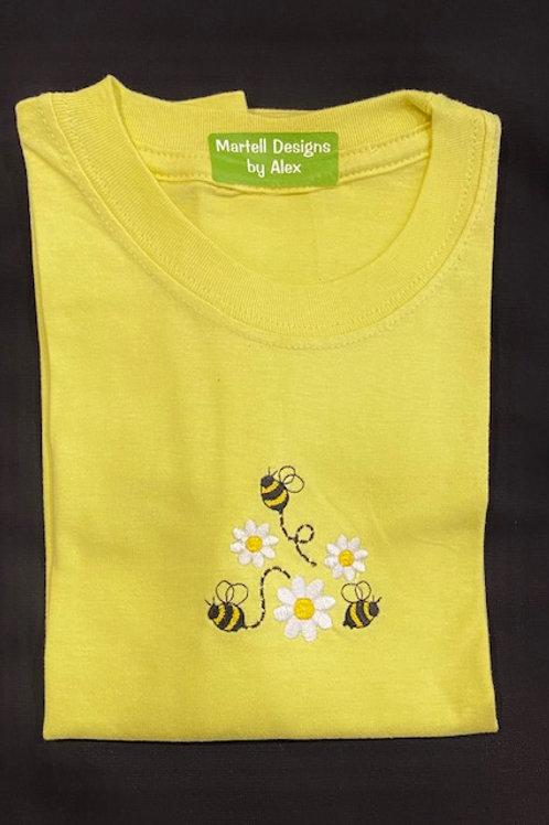 Bumble bee & Daisy short sleeve T-shirt