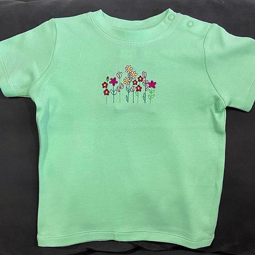 Short Sleeve Wild Woodland Flower T-shirt