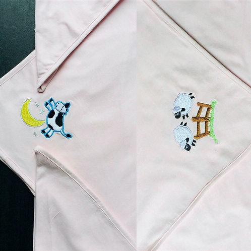 Light weight Baby blanket - cow and sheep design