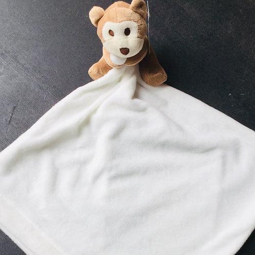 Monkey Comforter for a Girl (pastel floral design)