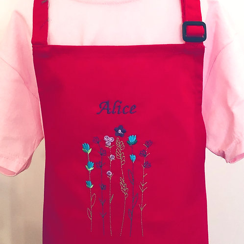 Wild Woodland Flowers apron